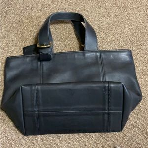 Old school leather coach bag